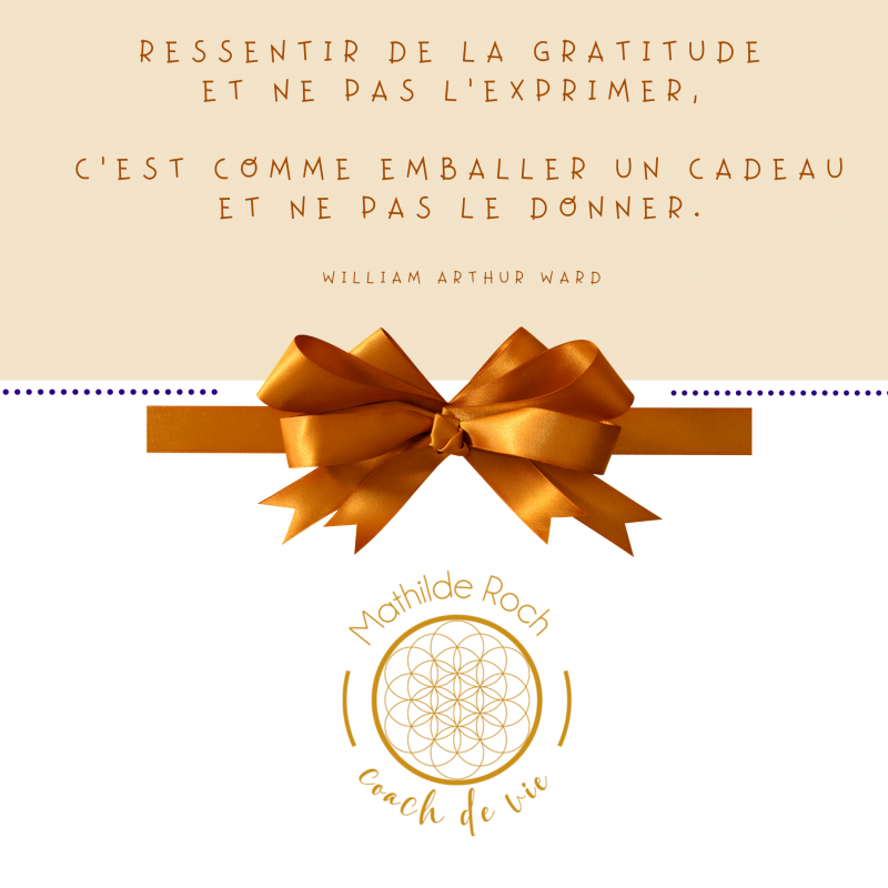 Le cadeau de la gratitude…